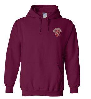 Alpha Phi Crest Emblem Hooded Sweatshirt