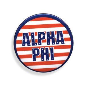 Alpha Phi Patriotic USA Button