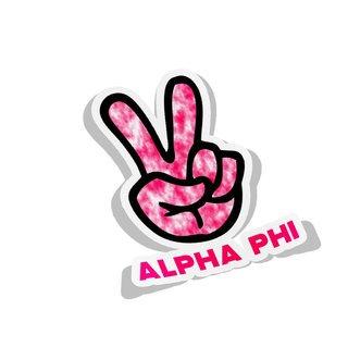 Alpha Phi Peace Hands Decal Sticker