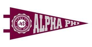 Alpha Phi Pennant Decal Sticker