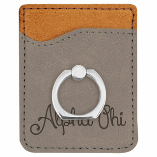 Alpha Phi Phone Wallet with Ring