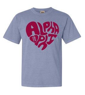 Alpha Phi Piece of My Heart Sorority Comfort Colors T-Shirt