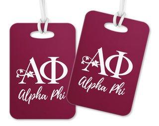 Alpha Phi Logo Luggage Tag
