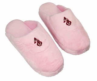 DISCOUNT-Alpha Phi Pink Solid Letter Slipper