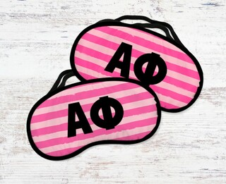 Alpha Phi Pink Stripes Eye MaSigma Kappa