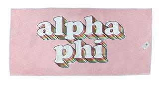 Alpha Phi Plush Retro Beach Towel
