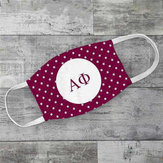 Alpha Phi Polka Dots Face Mask