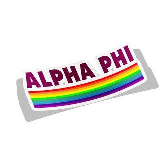 Alpha Phi Prism Decal Sticker