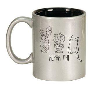 Alpha Phi Purrrfect Sorority Coffee Mug