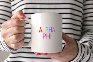 Alpha Phi Rainbow Coffee Mug