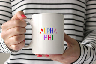 Alpha Phi Rainbow Coffee Mug