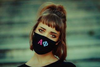 Alpha Phi Rainbow Face Mask