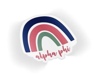 Alpha Phi Rainbow Sticker