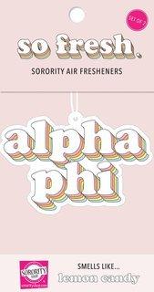 Alpha Phi Retro Air Freshener (2 pack)