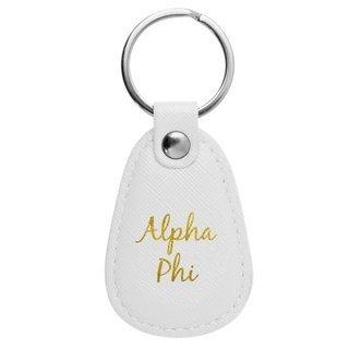 Alpha Phi Retro Key Chain