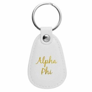 Alpha Phi Retro Key Chain