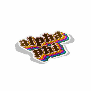 Alpha Phi Retro Maya Decal Sticker