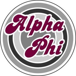 Alpha Phi Retro Round Decals