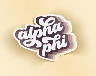 Alpha Phi Retro Sticker