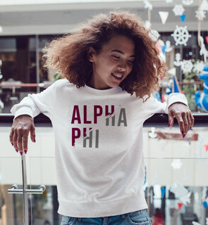 Alpha Phi Ripped Favorite Crewneck