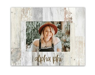 Alpha Phi Rustic Picture Frame