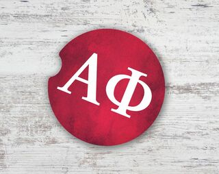 Alpha Phi Sandstone Car Cup Holder Coaster