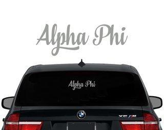 Alpha Phi Script Decal