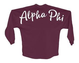 Alpha Phi Script Jersey