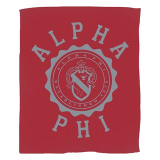 Alpha Phi Seal Fleece Blanket