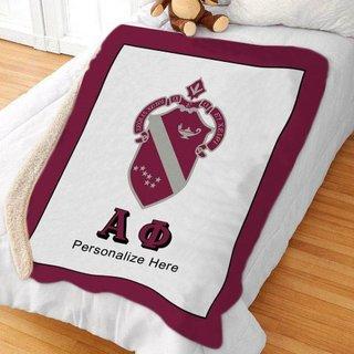 Alpha Phi Sherpa Lap Blanket