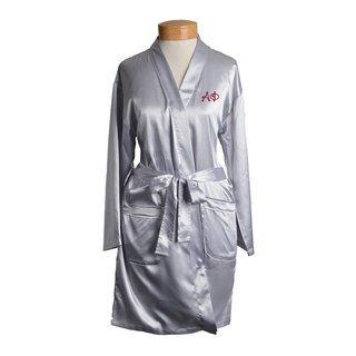 Alpha Phi Short Satin Robe
