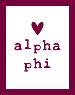 Alpha Phi Simple Heart Sticker
