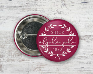 Alpha Phi Since Founded Button