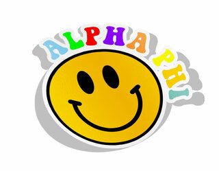Alpha Phi Smiley Face Decal Sticker