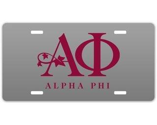 Alpha Phi Sorority Logo License Cover