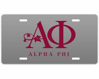Alpha Phi Sorority Logo License Cover