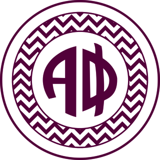 Alpha Phi Sorority Monogram Bumper Sticker