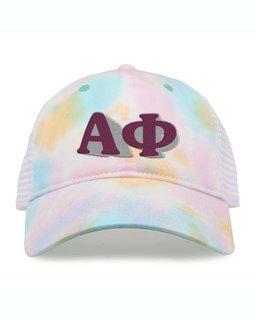 Alpha Phi Sorority Sorbet Tie Dyed Twill Hat