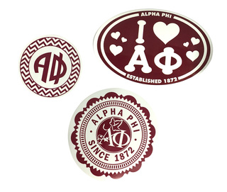 Alpha Phi Sorority Sticker Collection $5.95