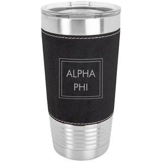Alpha Phi Sorority Leatherette Polar Camel Tumbler