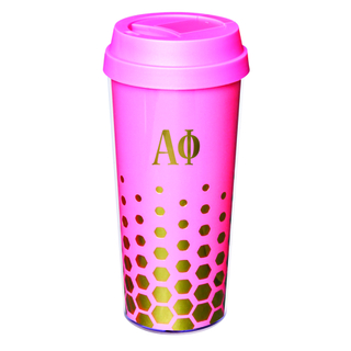 Alpha Phi Sparkle Coffee Tumblers