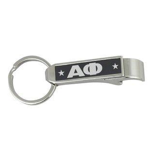 Alpha Phi Stainless Steel Bottle Opener Key Chain