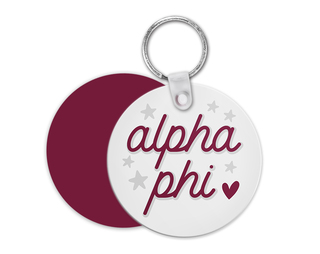 Alpha Phi Star Key Chain