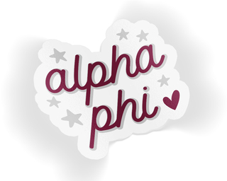 Alpha Phi Star Sticker