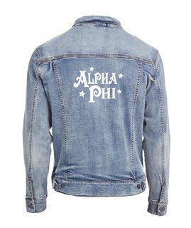 Alpha Phi Star Struck Denim Jacket