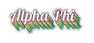 Alpha Phi Step Decal Sticker