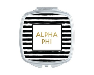 Alpha Phi Striped Compact