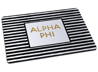 Alpha Phi Striped Mousepad