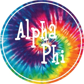Alpha Phi Tie-Dye Circle Sticker