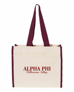 Alpha Phi Tote with Contrast-Color Handles